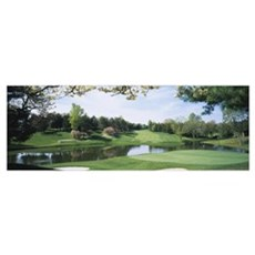 Lake on a golf course, Congressional Country Club, Poster