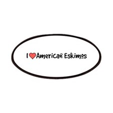 I heart American Eskimos Patches