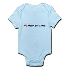 I heart American Eskimos Infant Bodysuit