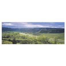 Highway passing through a landscape, Interstate 94 Poster
