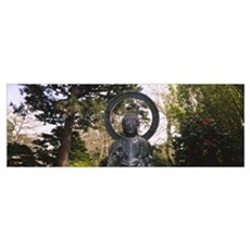Statue of Buddha in a park, Japanese Tea Garden, G Poster