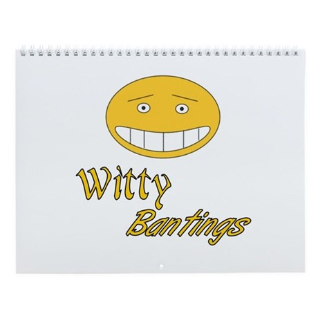 Witty Bantings Wall Calendar