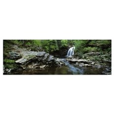 Waterfall in a forest, Falls of Falloch, River Fal Poster