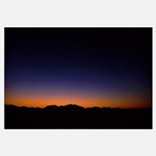 Silhouette of a mountain range, Richland Balsam, B
