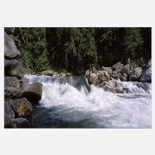 Water flowing through rocks, Bull Sluice, Chattoog