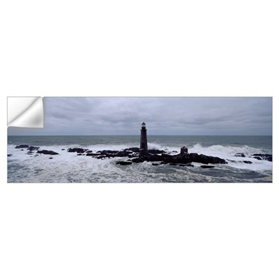 Lighthouse on the coast, Graves Light, Boston Harb Wall Decal