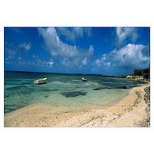 Boats in the sea, North coast of Antigua, Antigua