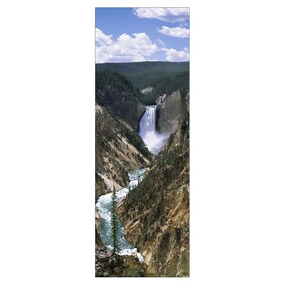 River, Artist Point, Yellowstone River, Yellowston Poster