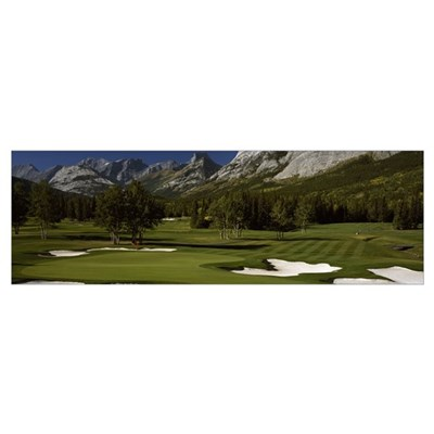 Golf course, Mt Kidd Golf Course, Kananaskis Count Poster
