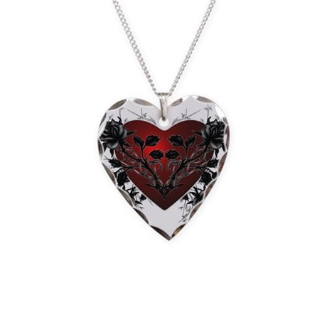 Heart-N-Thorns2 Necklace Heart Charm
