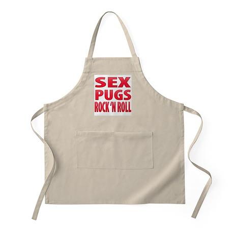 Sex, Pugs & Rock 'n Roll BBQ Apron