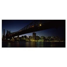 Bridge across a river, Queensboro Bridge, East Riv Framed Print