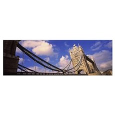 Low angle view of a bridge, Tower Bridge, London, Poster