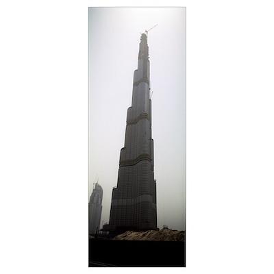 Worlds tallest building under construction, Burj D Poster