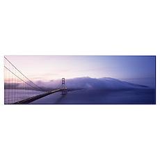 Bridge across the sea, Golden Gate Bridge, San Fra Poster