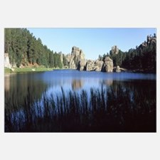 Trees around the lake, Sylvan Lake, Black Hills, C