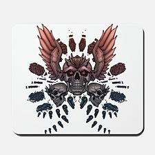Mechanical Skull + Wings Mousepad