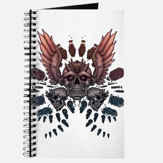 Mechanical Skull + Wings Journal