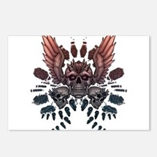 Mechanical Skull + Wings Postcards (Package of 8)