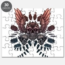 Mechanical Skull + Wings Puzzle