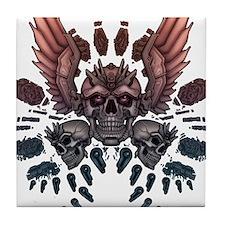 Mechanical Skull + Wings Tile Coaster