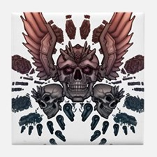 Mechanical Skull + Wings Tile Coaster