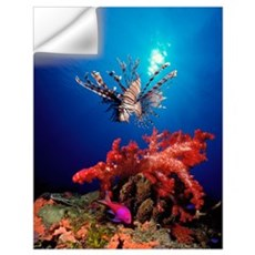 Lionfish (Pteropterus radiata) and Squarespot anth Wall Decal