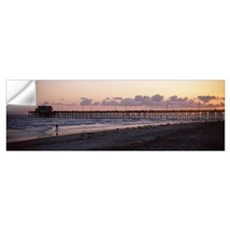 Pier in an ocean, Newport Pier, Newport Beach, Ora Wall Decal
