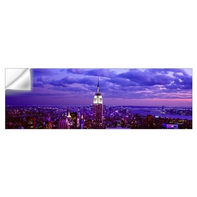 Aerial view of a city, Rockefeller Center, Midtown Wall Decal