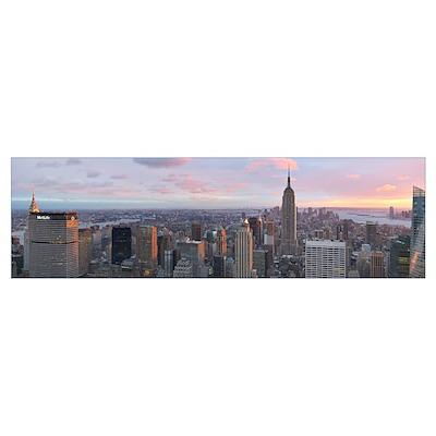 Aerial view of a city, Midtown Manhattan, Manhatta Poster