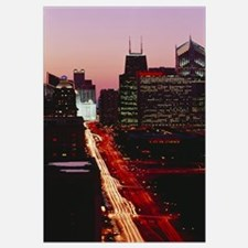 Sunset Aerial Michigan Avenue Chicago IL