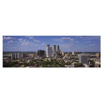 Aerial view of buildings in a city Tulsa Oklahoma Poster