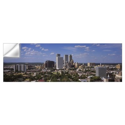 Aerial view of buildings in a city Tulsa Oklahoma Wall Decal
