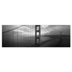 High angle view of a bridge across the sea Golden  Poster
