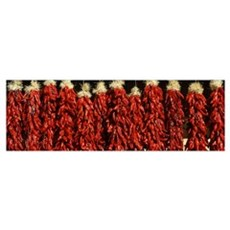 Close up of red chili ristras Taos Taos County New Poster
