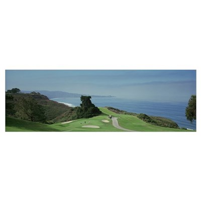 Golf course at the coast Torrey Pines Golf Course Poster