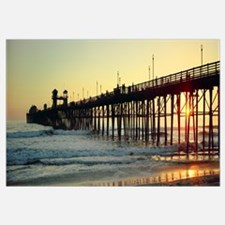 Pier in the ocean at sunset Oceanside San Diego Co