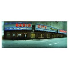 Stage theater at the roadside Radio City Music Hal Framed Print