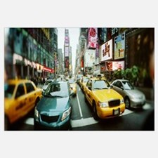 Traffic on a road Times Square Manhattan New York