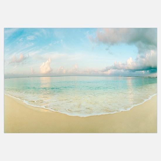 Waves on the beach Seven Mile Beach Grand Cayman C