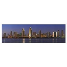 Buildings at the waterfront San Diego California 2 Poster