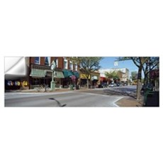 Cars parked in front of stores Traverse City Grand Wall Decal