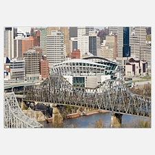 Bridge across a river Paul Brown Stadium Cincinnat