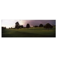 Trees in a golf course Montecito Country Club Sant Poster