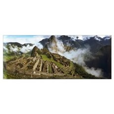 Ruins of buildings at an archaeological site Inca  Poster