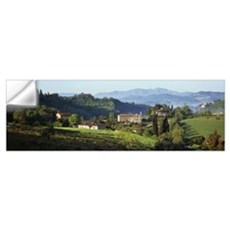 Houses on a landscape Marches Italy Wall Decal