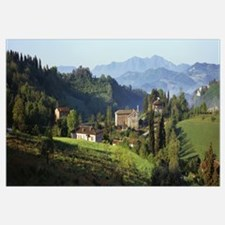 Houses on a landscape Marches Italy