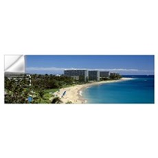 Hotels on the beach Kaanapali Beach Maui Hawaii Wall Decal