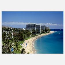 Hotels on the beach Kaanapali Beach Maui Hawaii