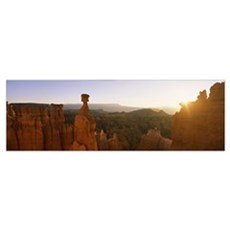Rock formations in a canyon, Thors Hammer, Bryce C Poster
